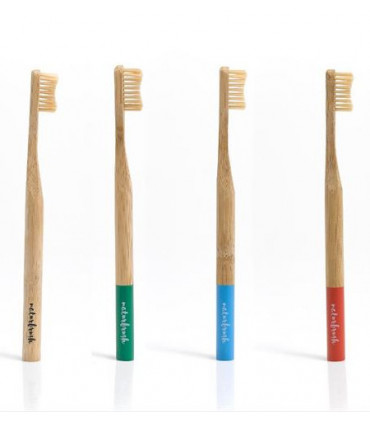 Cepillo de dientes adulto de bambú